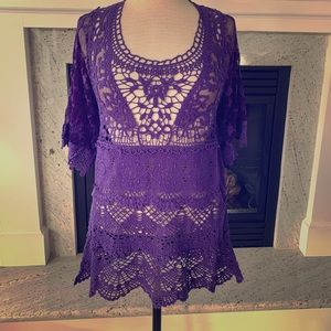 Pretty angel purple lace gothic new top S